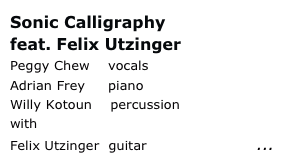 Sonic Calligraphy 